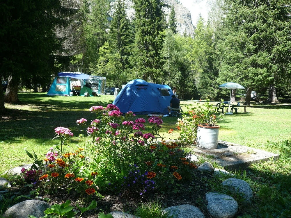 Camping Aiguille Noire di Courmayeur (AO) - tende