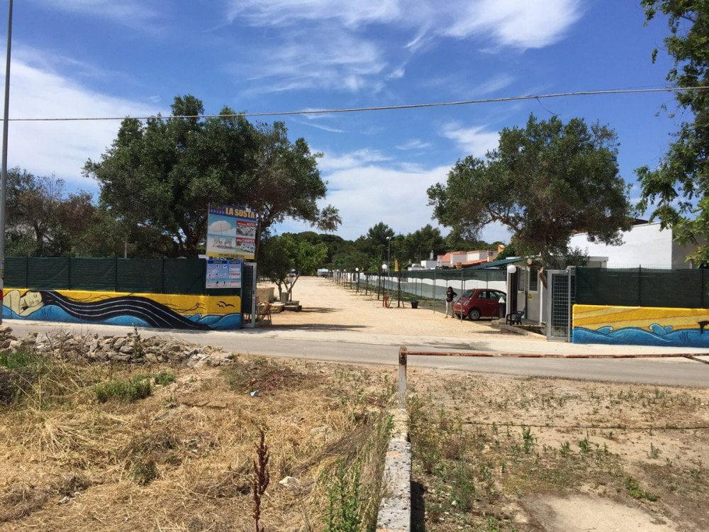 Area attrezzata camper la sosta di gallipoli le giro per campeggi - Sosta camper bagno di romagna ...