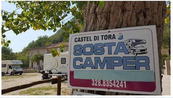 Area Attrezzata Camper Castel di Tora (RI)