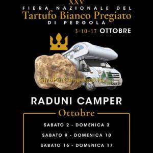 Raduni Camper in occasione della XXV Fiera Nazionale del Tartufo Bianco Pregiato di Pergola (PU)